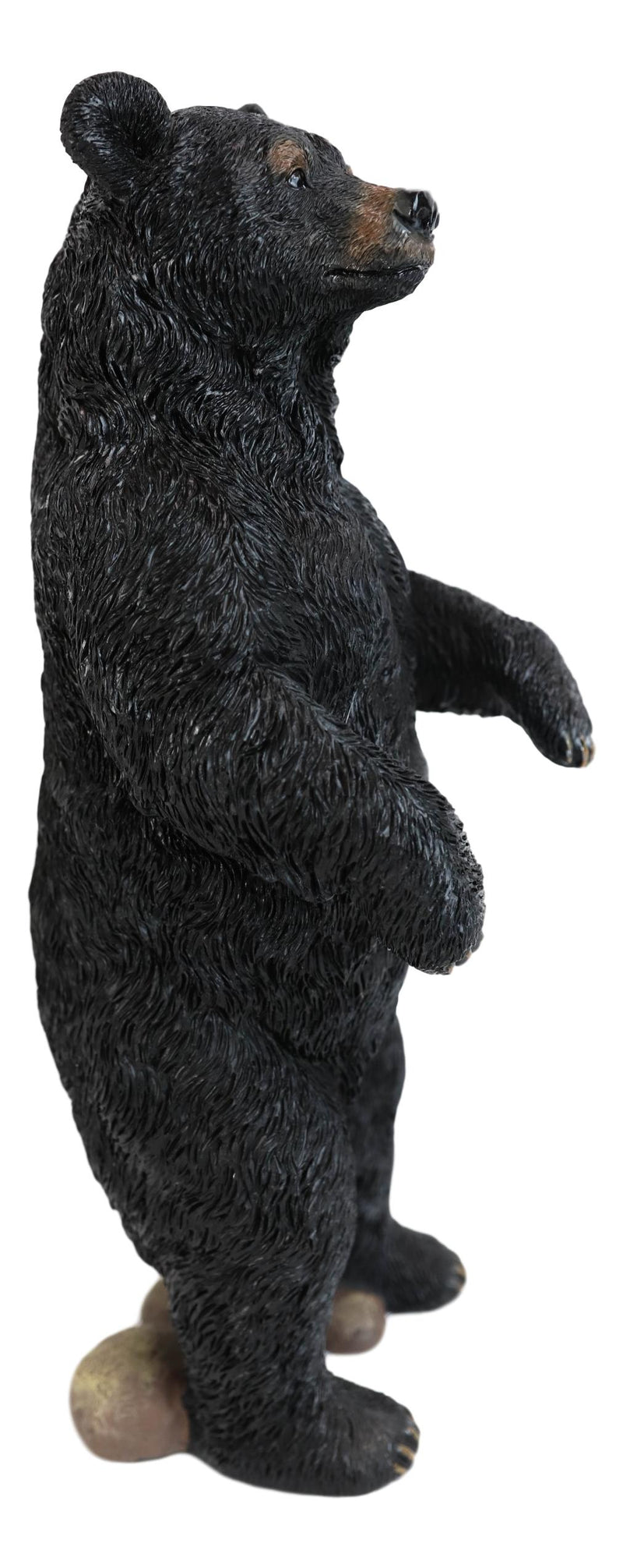 "Western Rustic Forest Standing Black Bear Statue 12""H Cabin Lodge Bears Figurine"