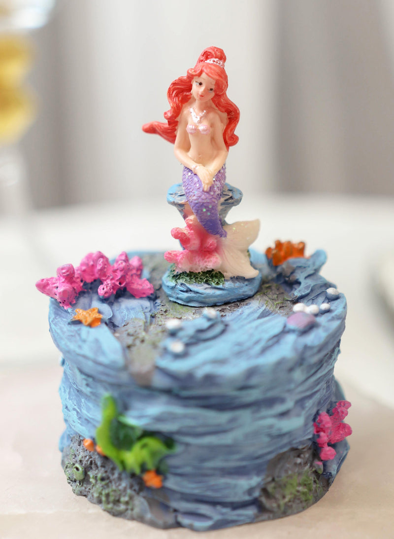 Mermaid Mergirl Sisters Sitting On Rock By Corals Mini Decorative Boxes Set Of 2