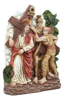Ebros Christian Catholic Stations of The Cross Statue Or Wall Plaque Way of The Sorrows Via Crucis Jesus Christ Path to Calvary Crucifixion Decor Figurine (Station 2 Jesus Carries His Cross)