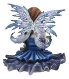 Ebros Pretty Ballerina Blue Bookworm Fairy Shelf Sitter Figurine Whimsical Fantasy Faerie Decor Collectible Statue As Gift Ideas for Women Girls Birthdays