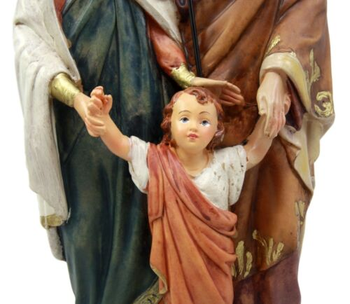 "Our Blessed Holy Family Figurine 12""Tall Statue Mary Joseph Child Jesus Catholic"