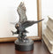 Wings of Glory Bald Eagle Swooping Over Stormy Ocean Waves Electroplated Statue