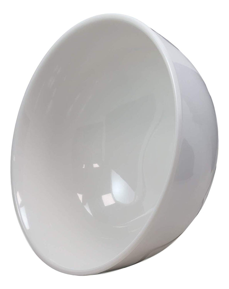 Ebros Contemporary White Jade Melamine Large Deep Round Bowls 48oz (PACK OF 2)