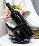 Nautical Ocean Marine Leaping Baleen Humpback Whale Wine Bottle Holder Statue