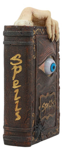 "Ebros Witchcraft Sorcery Lifelike Evil Eye Book of Spells Money Bank Figurine Decor Statue 8.5"" Tall"
