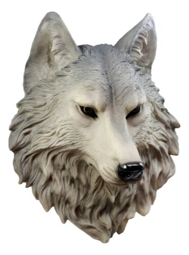 Timber wolf wall plaque garden ornament collectable