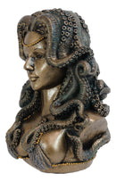 Sea Witch Goddess Cecaelia Kraken Octopus Tentacles Haired Woman Bust Statue