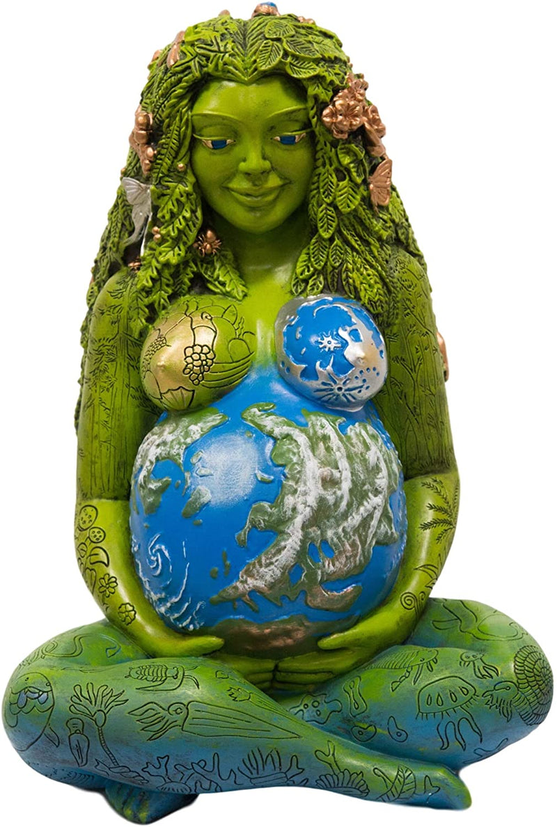 "Ebros 24"" Tall Millennial Gaia Mother Earth Goddess Statue by Oberon Zell (XL) - Ebros Gift"