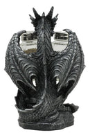 Blackened Spice Medieval Gothic Dragon Salt And Pepper Shakers Set Holder Statue