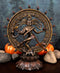 "Hindu Shiva Nataraja Figurine Lord Of The Dance Cosmic Dancer God Statuette 9""H"