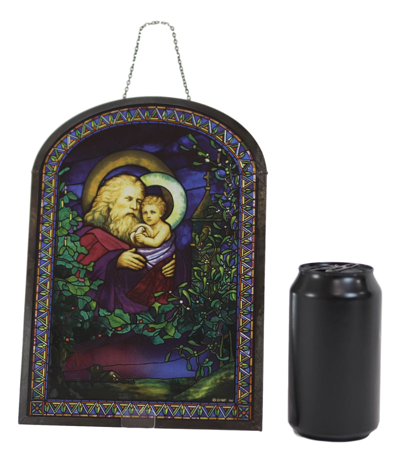 Louis Comfort Tiffany Christmas Eve Trinity Stained Glass Wall Or Desktop Plaque