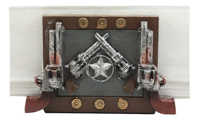 Ebros Wild Wild West Texas Star And Six Shooter Pistols Cowboy Napkin Holder
