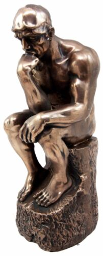 "Auguste Rodin Masterpiece Le Penseur The Thinker Decorative Figurine 9.25""H - Atlantic Collectibles"