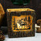 Rustic Pine Forest Elk Moose Faux Carved Wood Bark Night Light Lamp Sculpture