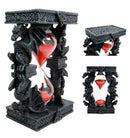 "Ebros Celtic Four Dragon Elemental Pillars Trinity Sandtimer Sands of Time 6""H"