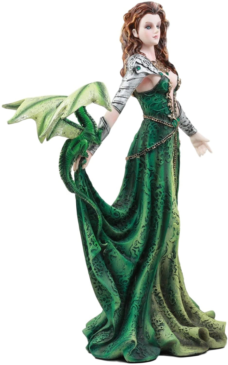 "Ebros Seductive Elphaba Dragon Witch Doctor Warrior Statue 10""H By Nene Thomas"
