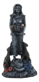 Oberon Zell Spiral Triple Goddess The Crone Hecate With She Dog Hounds Statue