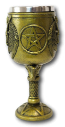 Ebros Baphomet Goblets & Chalices with 15 oz capacity Removable Stainless Cup