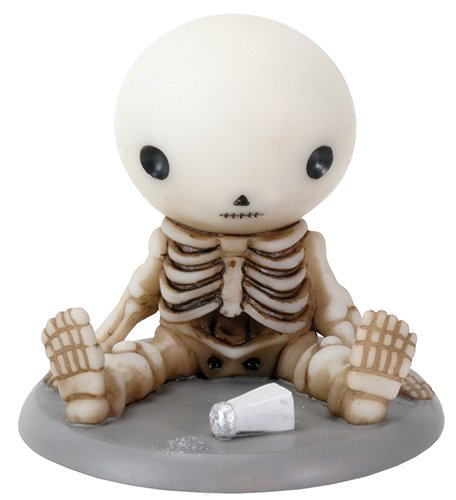"Ebros Lucky Spills Salt Collectible Figurine 2.5"" Tall Skeleton Boy Statue"