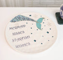 Nautical Marine Blue Mermaid Kisses Starfish Wishes Ceramic Dinner Plates 2 Pack