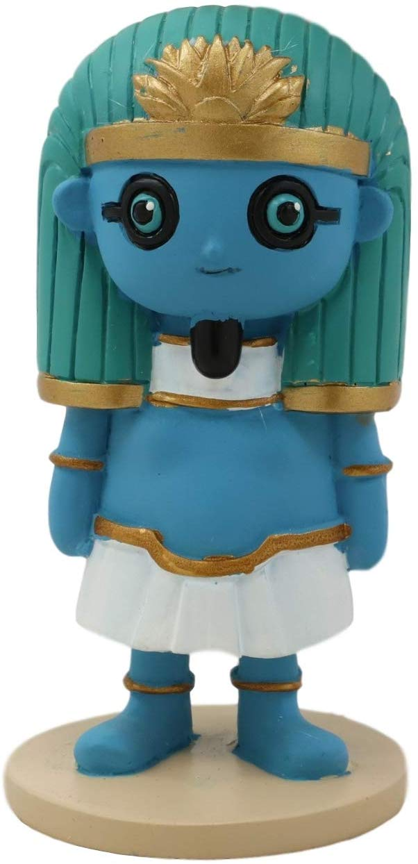 "Ebros Weegyptians Egyptian Chibi God Hapi Lord Of The River Statue 4""H Figurine"