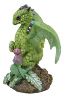 Ebros Colorful Garden Fruits and Berries Green Thumb Dragon Statue by Stanley Morrison Medieval Fairy Dragons Fantasy Decor Figurine (Artichoke Vintage Flower Head Cynara)