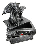 "Ebros Gift Medieval Fantasy Beor Dragon Guardian of Knowledge Decorative Secret Trinket Box Figurine 8.25""H"