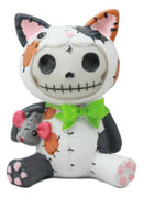 "Furry Bones Stitched Doll Calico Cat Skeleton Figurine 3""H Lucky Cat Mao Mao"