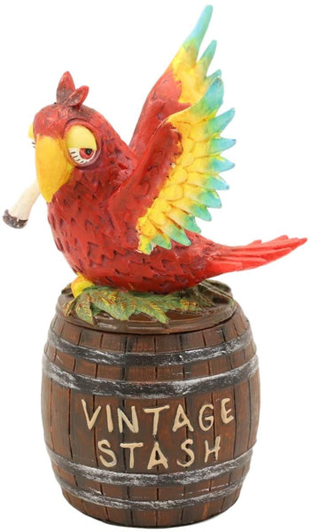 "Ebros Barrell Parrot Scarlet Macaw Decorative Jewelry Trinket Secret Box 4.5""H"