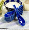 Made In Japan Ceramic Large Glossy Ocean Blue Spoons W/ Ladle Hook Set Of 6