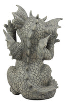 "Ebros Whimsical Garden Dragon Making Funny Faces Statue 10.25"" H Figurine"
