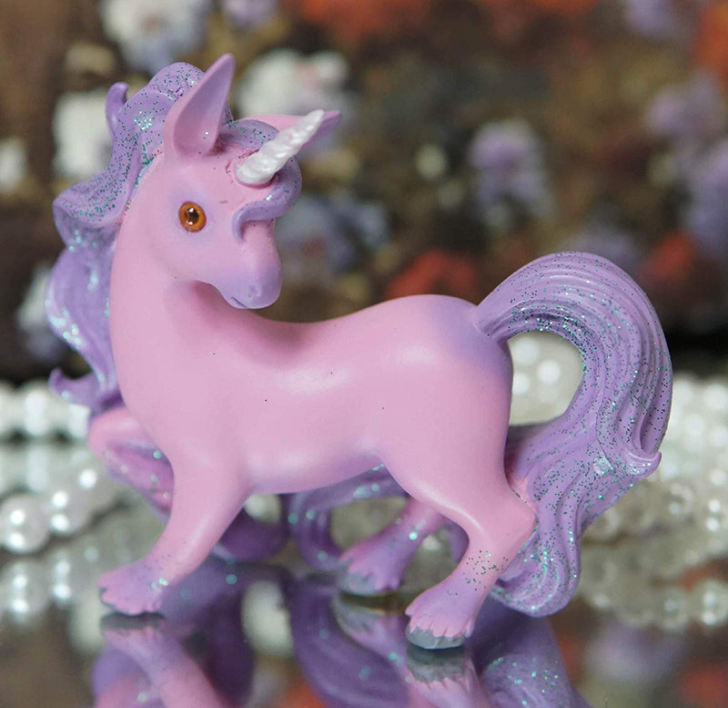 Ebros Whimsical My Little Unicorn Horse Figurine in Pastel Colors (Pink Sera)