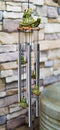 Ebros Tortoise Piggybacking Green Frog With Snail Garden Patio Wind Chime Mobile Decor