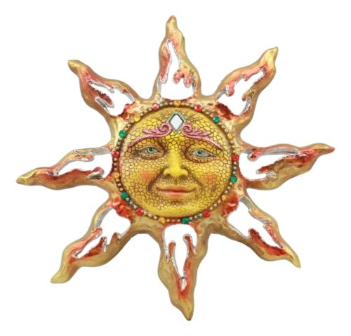 Beautiful Mosaic Celestial Solar Radiant Surya Sun God Wall Decor 3D Figurine