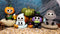 Furry Bones Halloween Characters Skeleton Limited Edition Figurines Set Of 4