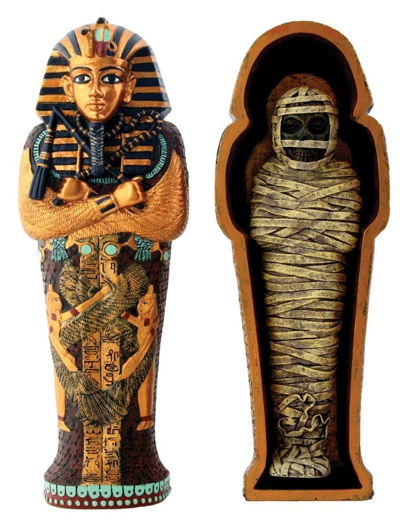 Ebros Egyptian King Tut Coffin With Mummy - Collectible Figurine Statue Figure Egypts
