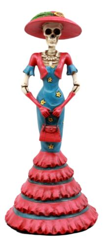 Day Of The Dead DOD Skeleton Lady Isabela Figurine High Tea Fashion Diva Statue