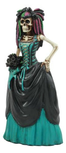 "Ebros Day of The Dead High Fashion Ballroom Skeleton Bride in Wedding Gown Statue 8"" Tall Dias De Muertos Celebration Love Never Dies Sugar Skulls Decor"
