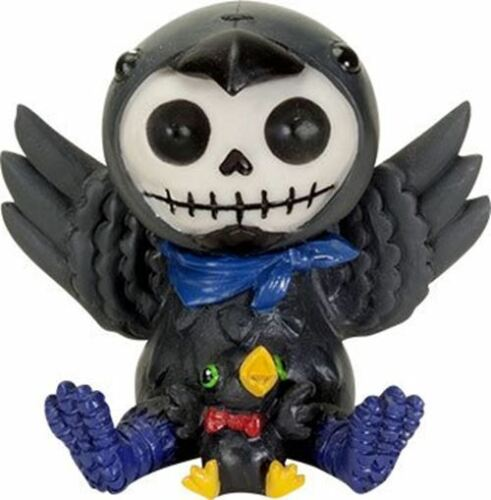 Ebros Furrybones Leopold The Raven Hooded Skeleton Monster Collectible Sculpture
