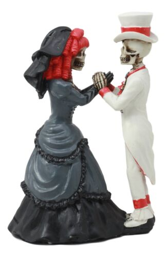Day Of The Dead Wedding Skeleton Couple Bride and Groom Statue Love Never Dies
