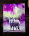 Anne Stokes Aurora Borealis Howling Wolf Wood Framed Picture Canvas Wall Decor