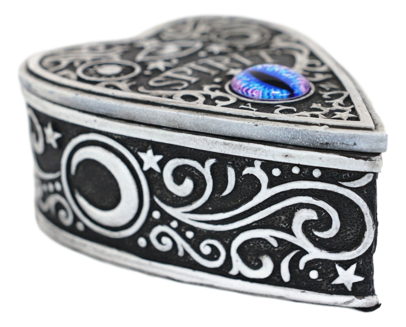 Ouija Spirit Board With Glass Evil Eye Heart Decorative Jewelry Box Figurine