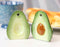 Ceramic Superfood Hearty Avocado Halves Salt And Pepper Shakers Figurine Set
