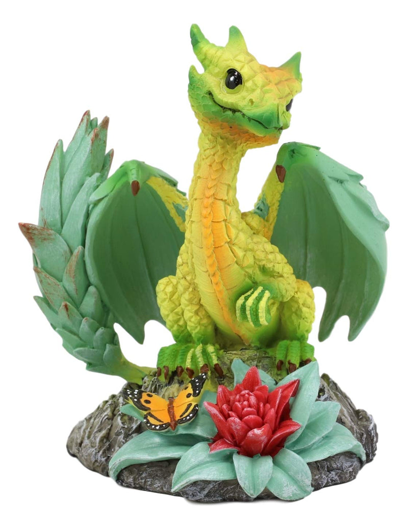 Ebros Colorful Garden Fruits and Berries Green Thumb Dragon Statue by Stanley Morrison Medieval Fairy Dragons Fantasy Decor Figurine (Tropical Pineapple Pina Colada)