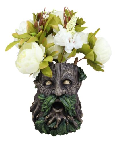 Evergreen Forest Greenman Wall Hanging Planter Sculpture Plaque Home Decor