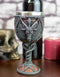 Satanic Pentagram Sabbatic Goat Baphomet Red Blood Sacrifice Wine Goblet Chalice