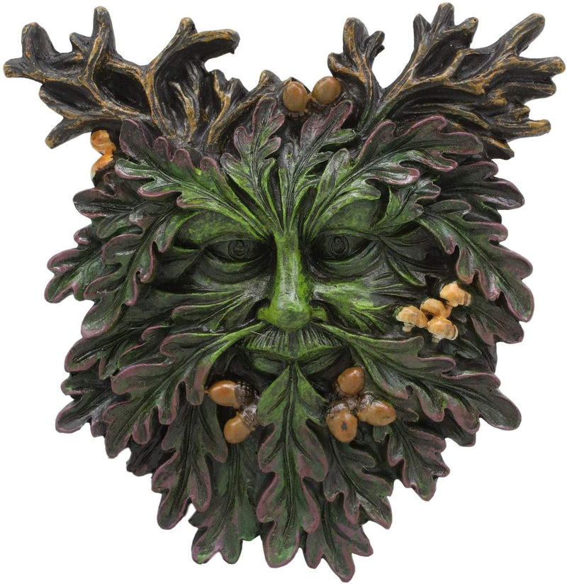 "Ebros Celtic Autumn Euphoria Celtic Greenman Hanging Wall Decor Plaque 6"" High"