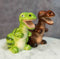 Ceramic Green And Brown T Rex Jurassic Dinosaurs Salt And Pepper Shakers Set