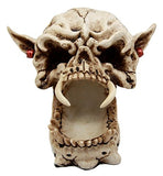 "Ebros Demon Pirate Skull Figurine 6.5"" L Fanged Bone Vampire Marauder Skeleton Sculpture Ashtray"