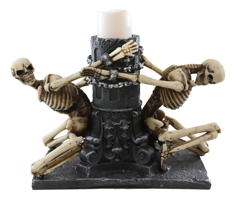 Love Never Dies Dungeon Chained Forbidden Lovers Couples Skeleton Figurine